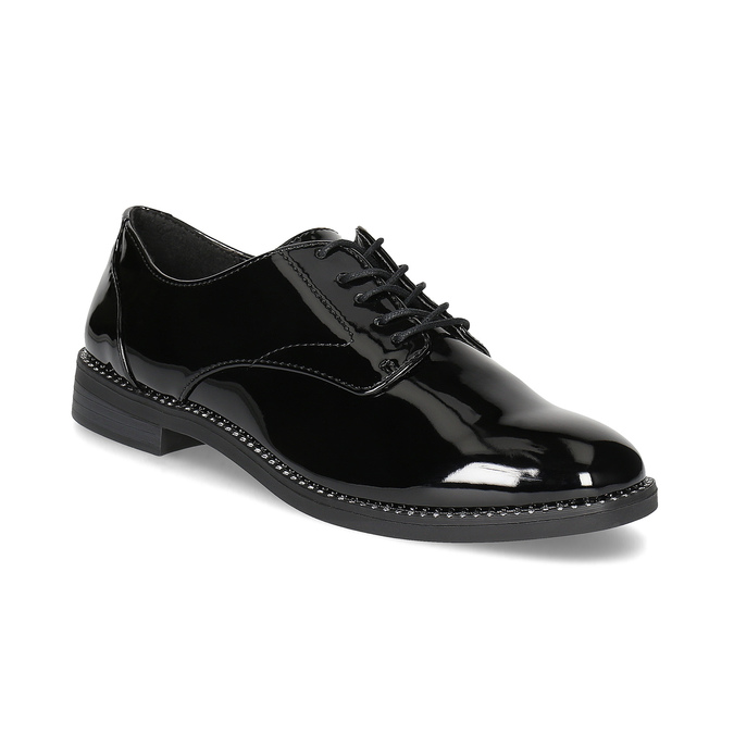 Dámske lakované poltopánky bata, čierna, 521-6608 - 13
