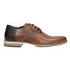 Kožené hnedé poltopánky bata, hnedá, 826-3924 - 26