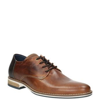 Kožené hnedé poltopánky bata, hnedá, 826-3924 - 13
