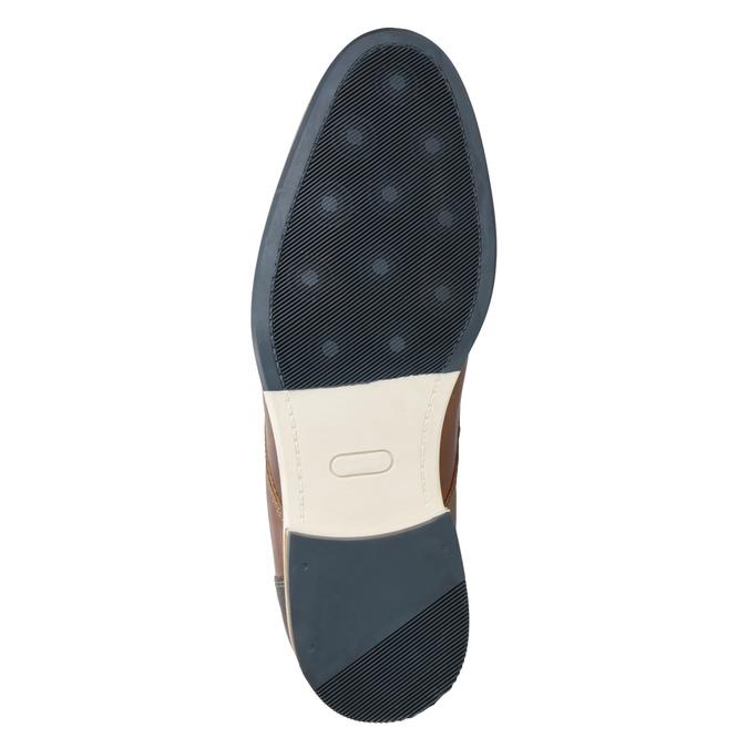 Kožené hnedé poltopánky bata, hnedá, 826-3924 - 17