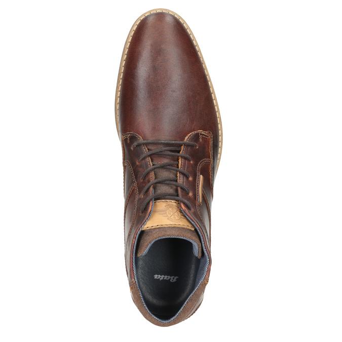 Pánska kožená členková obuv bata, hnedá, 826-3926 - 15