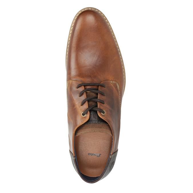 Kožené hnedé poltopánky bata, hnedá, 826-3924 - 15