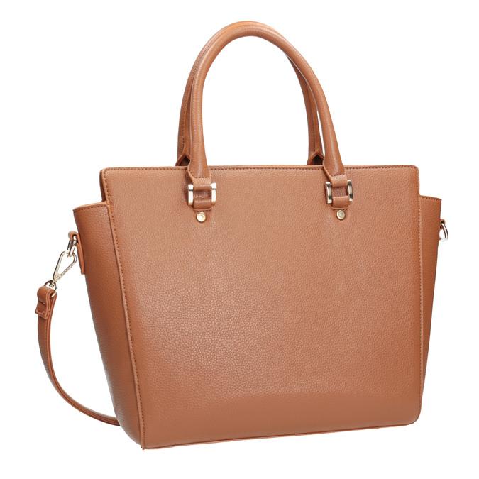 Hnedá kabelka s odnímateľným popruhom bata, hnedá, 961-3845 - 13
