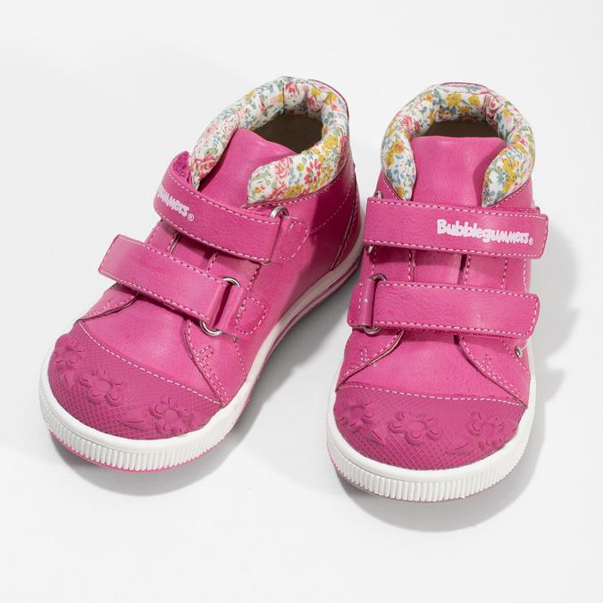 Ružová členková obuv na suchý zips bubblegummers, 121-5618 - 16