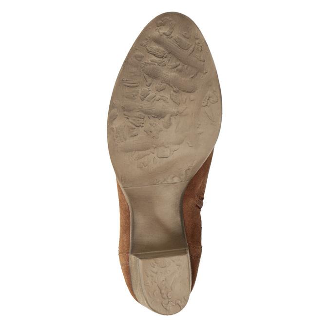 Kožené členkové čižmy s výšivkou bata, hnedá, 696-4655 - 19