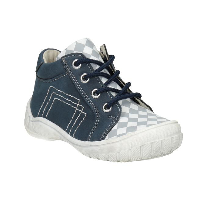 Detská členková obuv so vzorom bubblegummers, modrá, 111-9626 - 13