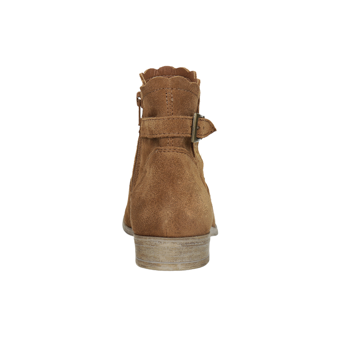 Členkové kožené čižmy s výšivkou bata, hnedá, 596-4686 - 15