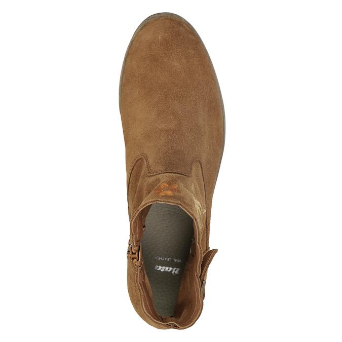 Členkové kožené čižmy s výšivkou bata, hnedá, 596-4686 - 17