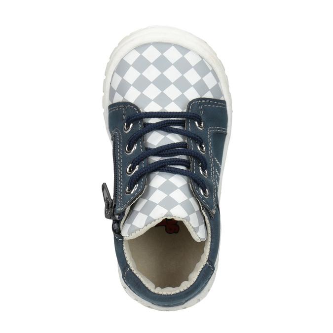 Detská členková obuv so vzorom bubblegummers, modrá, 111-9626 - 15