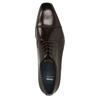 Tmavé hnedé kožené Derby poltopánky bata, hnedá, 826-4851 - 15