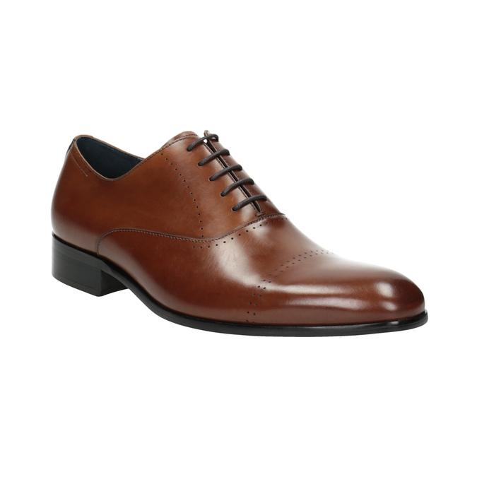 Hnedé kožené Oxford poltopánky bata, hnedá, 826-3852 - 13