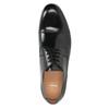 Čierne kožené Derby poltopánky bata, čierna, 824-6863 - 15
