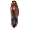 Hnedé kožené Oxford poltopánky bata, hnedá, 826-3852 - 15