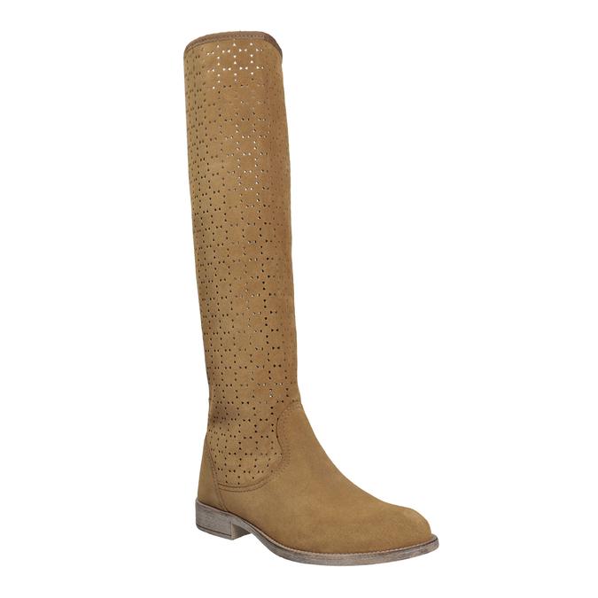 Perforované dámske čižmy bata, hnedá, 596-4688 - 13