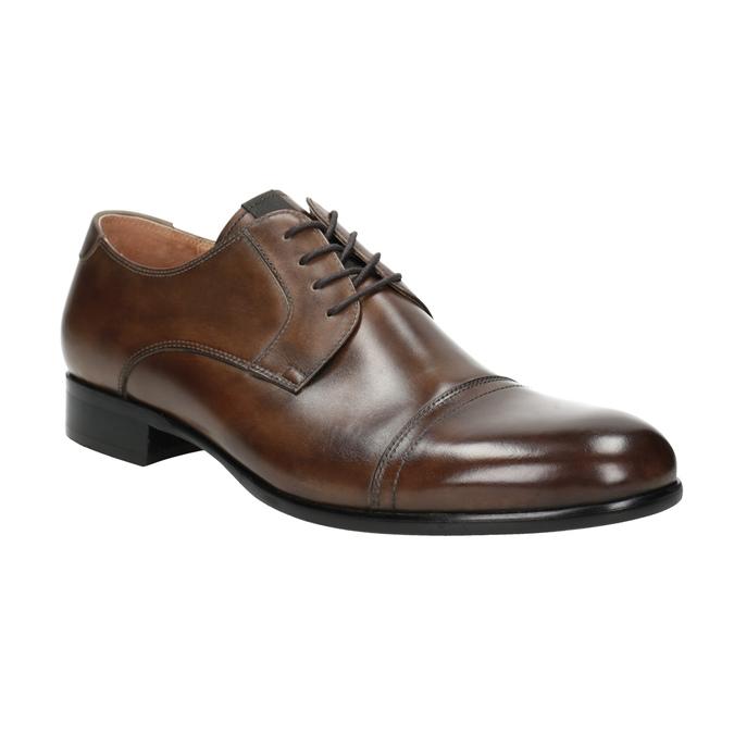 Hnedé kožené Derby poltopánky bata, hnedá, 826-3863 - 13