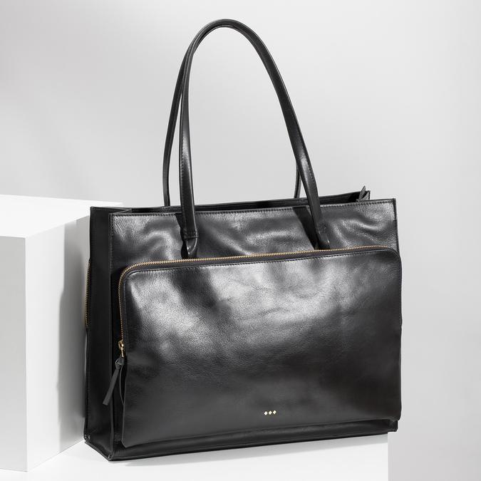 Kožená dámska kabelka royal-republiq, čierna, 964-6066 - 17