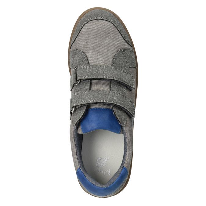 Detské ležérne tenisky s potlačou mini-b, šedá, 411-2608 - 15