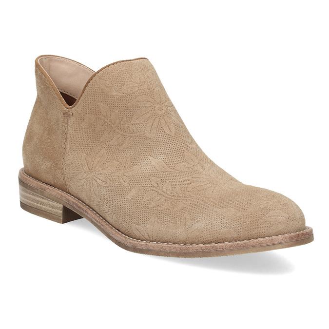 Kožené členkové čižmy bata, hnedá, 596-3685 - 13
