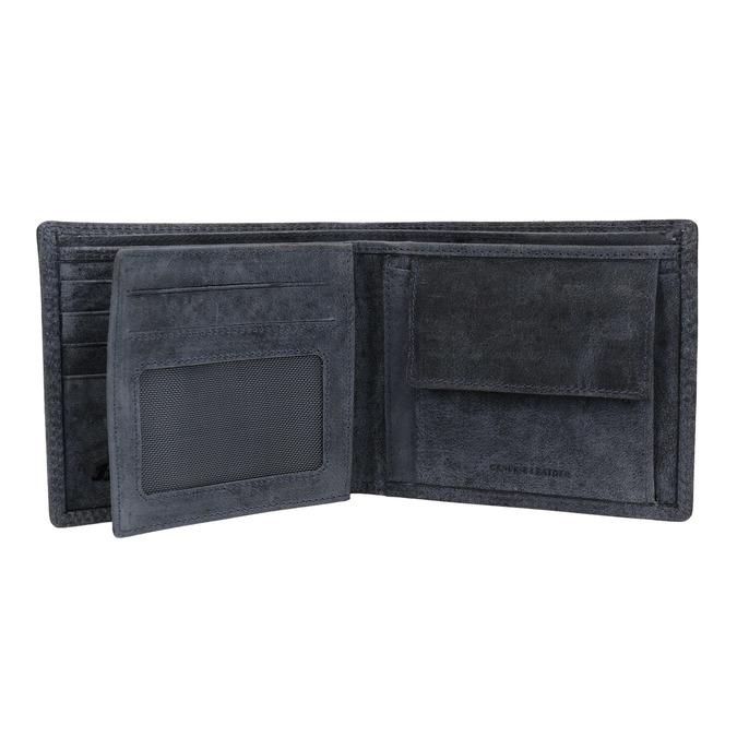 Pánska modrá kožená peňaženka bata, 944-9207 - 15