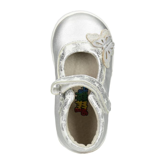 Strieborné dievčenské baleríny bubblegummers, šedá, 121-2620 - 15
