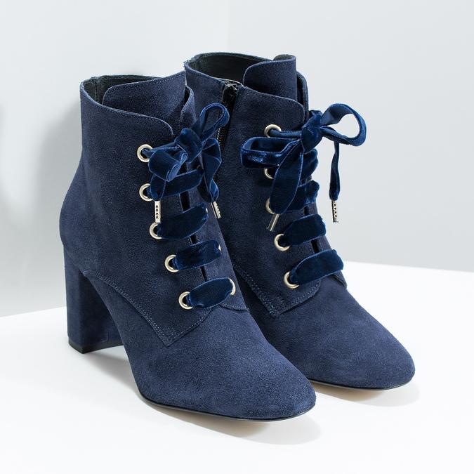 Členková kožená obuv s mašľou bata, 793-9613 - 26