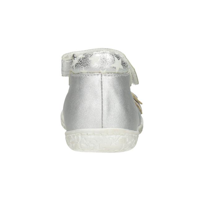 Strieborné dievčenské baleríny bubblegummers, šedá, 121-2620 - 16
