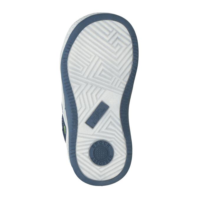 Detská kožená členková obuv bubblegummers, modrá, 113-9603 - 17