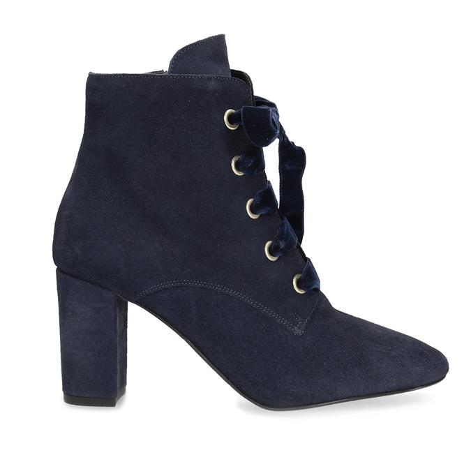 Členková kožená obuv s mašľou bata, 793-9613 - 19