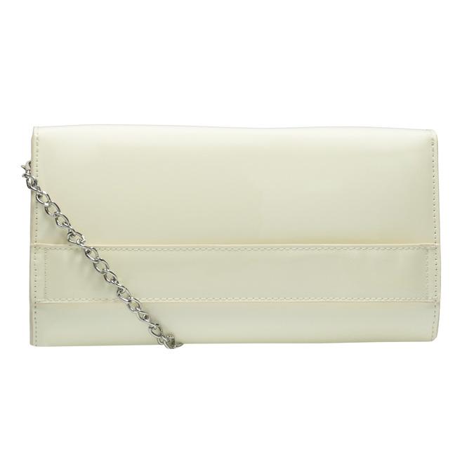 Lakovaná listová kabelka s retiazkou bata, biela, 961-1685 - 16