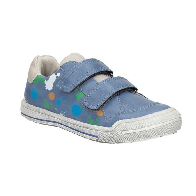 Modré tenisky s potlačou mini-b, modrá, 211-9218 - 13