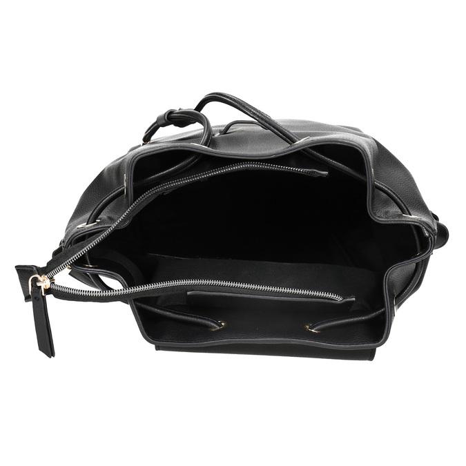Čierny batoh s pútkom bata, čierna, 961-6858 - 15
