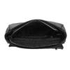 Crossbody kabelka s prešitím bata, čierna, 961-6826 - 15