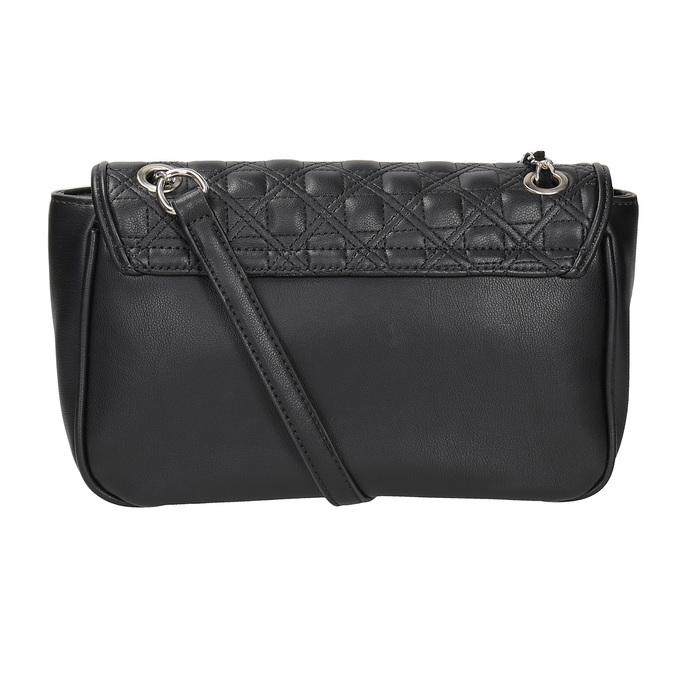 Crossbody kabelka s prešitím bata, čierna, 961-6826 - 16