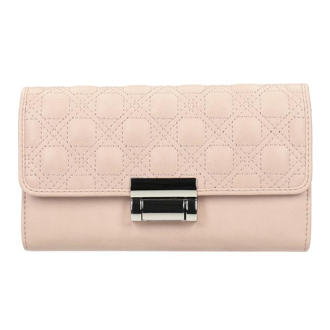 Ružová dámska peňaženka s prešitím bata, 941-9169 - 26