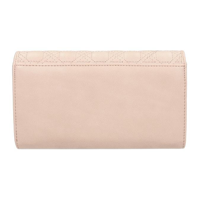 Ružová dámska peňaženka s prešitím bata, 941-9169 - 16