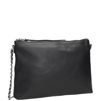 Čierna kožená Crossbody kabelka bata, čierna, 964-6292 - 13