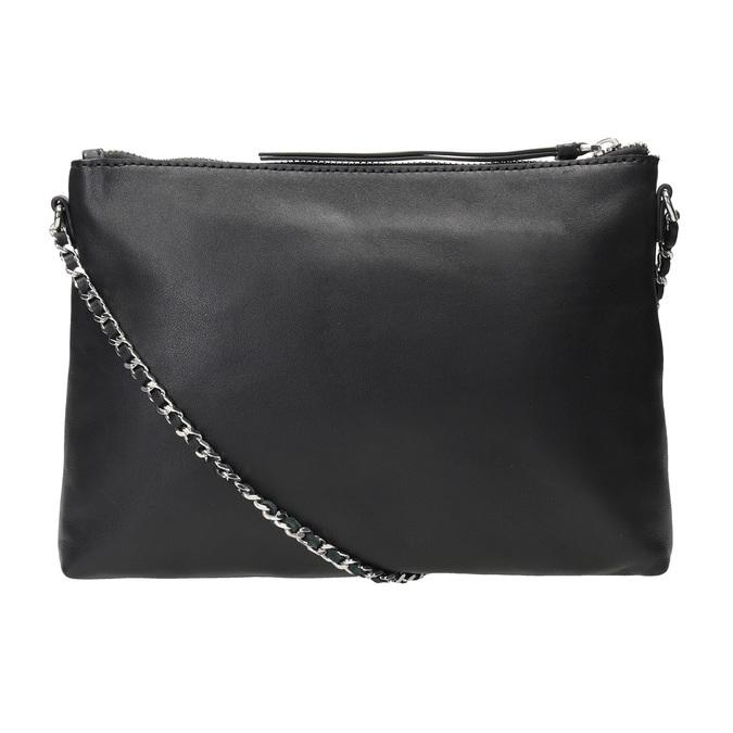 Čierna kožená Crossbody kabelka bata, čierna, 964-6292 - 16