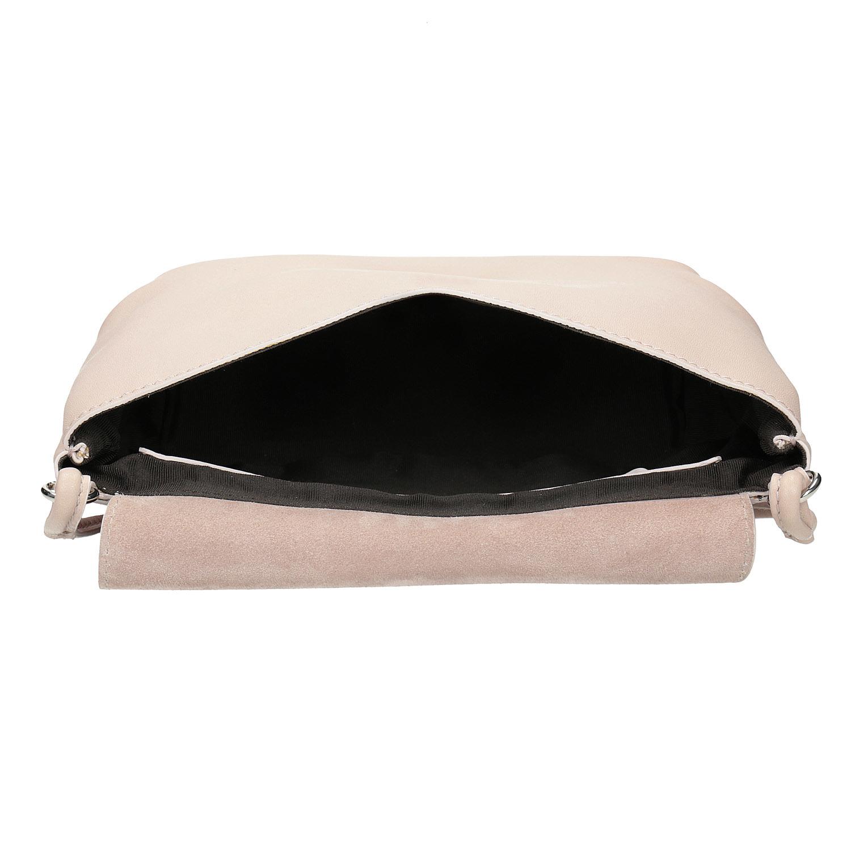 Baťa Krémová kožená kabelka - Kožené kabelky  838b808e99a