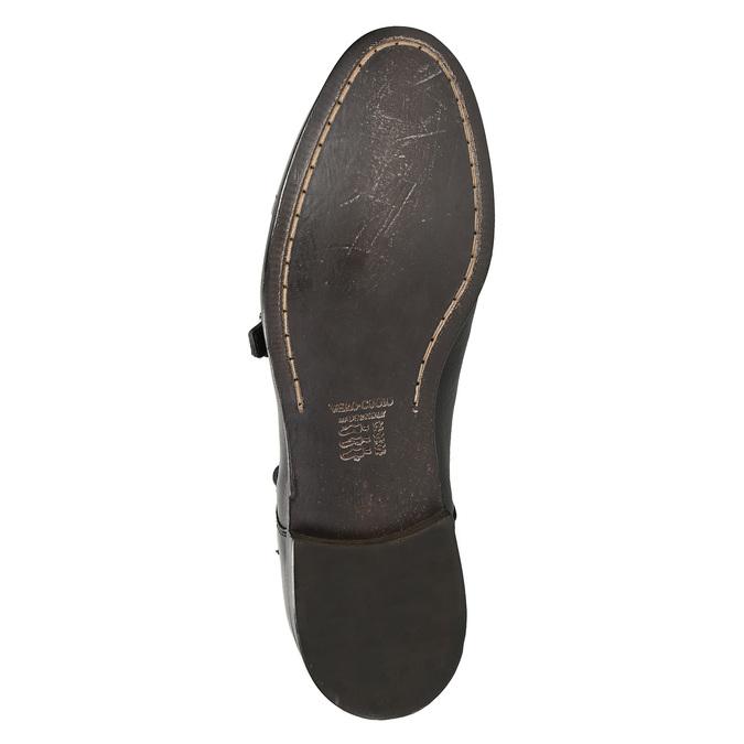 Čierne kožené Monk Shoes bata, čierna, 824-6730 - 19