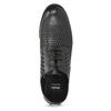 Dámske poltopánky s výraznou perforáciou bata, čierna, 521-6610 - 17