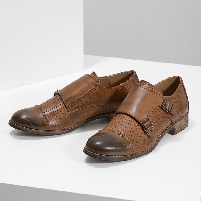 Dámske Monk Shoes bata, hnedá, 521-4609 - 16