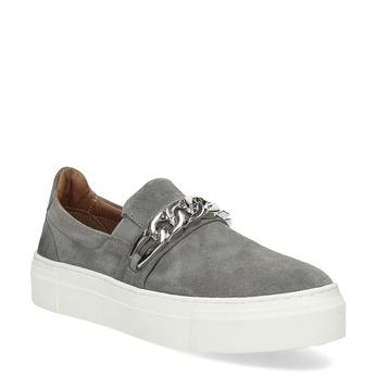 Dámske Slip-on s kovovou prackou bata, šedá, 513-2600 - 13