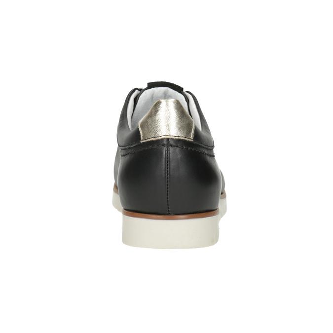 Dámske ležérne kožené poltopánky flexible, čierna, 546-6614 - 15