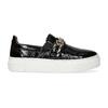 Kožená Slip-on obuv na flatforme bata, čierna, 518-6601 - 19