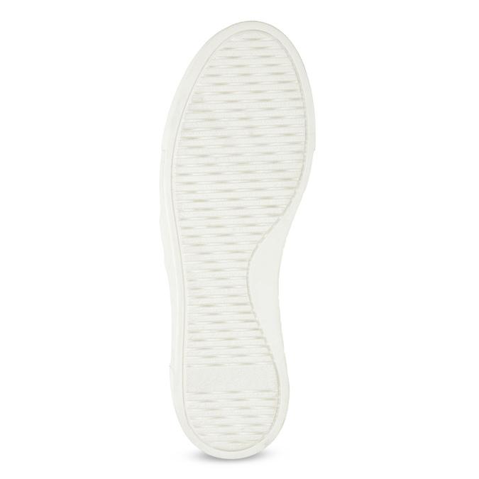 Kožené dámske Slip-on s retiazkou bata, biela, 514-1601 - 18