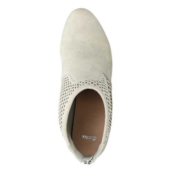 Členkové čižmy s perforáciou bata, šedá, 791-2615 - 15