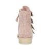 Kožené čižmy s prackami bata, ružová, 596-5691 - 15