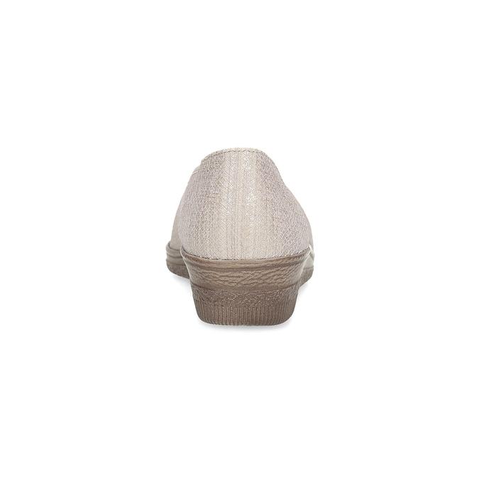 Kožené baleríny šírky G gabor, béžová, 626-8055 - 15