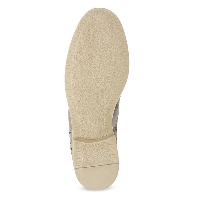 Kožené členkové topánky s kovovou aplikáciou bata, šedá, 596-2690 - 18