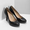 Čierne kožené lodičky insolia, čierna, 724-6104 - 26
